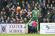 George Francomb of AFC Wimbledon during the Sky Bet League 2 match between Exeter City and AFC Wimbledon at St James' Park, Exeter, England on 28 December 2015. Photo by Stuart Butcher.