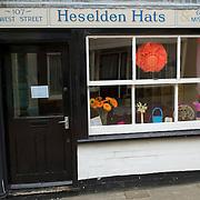 Hats shop in Faversham, East Sussex, England