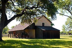 Johnson Settlement recreates a Texas farm as it looked during Lyndon B. Johnson's early life. This cut-stone barn was built in 1884.