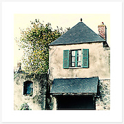 Maison Bretonne, Bretagne, France - Colour version. Inkjet pigment print on Canson Infinity Rag Photographique 310gsm 100% cotton museum grade Fine Art and photo paper.<br />