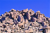 The summit of 14,264 ft. Mount Evans is a mass of large boulders.  Front Range Mountains, Colorado.  USA