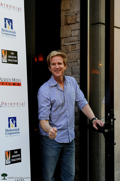 August 27, 2008 - Actor Matthew Modine peaks out to the crowd while attending the Spotlight Initiative Award Morning Reception Honoring Annette Bening during the 2008 Democratic National Convention in Denver.