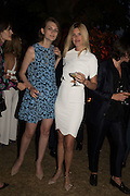 LARA MULLEN; TAYLOR BAGLEY, Serpentine's Summer party co-hosted with Christopher Kane. 15th Serpentine Pavilion designed by Spanish architects Selgascano. Kensington Gardens. London. 2 July 2015.