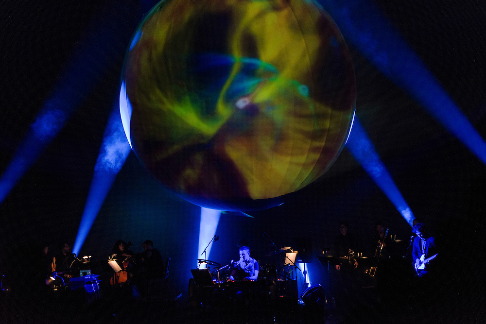 Photos of Planetarium live performance featuring Sufjan Stevens, Bryce Dessner and Nico Muhly at BAM Howard Gilman Opera House in Brooklyn, NY. March 21, 2013. Copyright © 2013 Matthew Eisman. All Rights Reserved.