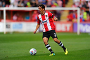 Craig Woodman (3) of Exeter City on the attack during the EFL Sky Bet League 2 match between Exeter City and Lincoln City at St James' Park, Exeter, England on 19 August 2017. Photo by Graham Hunt.