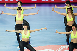 Cheerladers perform during handball match between National teams of Spain and Sweden on Day 6 in Preliminary Round of Men's EHF EURO 2016, on January 20, 2016 in Centennial Hall, Wroclaw, Poland. Photo by Vid Ponikvar / Sportida