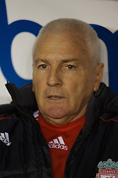 Sheffield, England - Thursday, February 15, 2007: Liverpool's Director of Youth Development Steve Heighway watches from the bench as his young side defeat Sheffield United 3-1 during the FA Youth Cup Quarter-Final match at Bramall Lane. (Pic by David Rawcliffe/Propaganda)