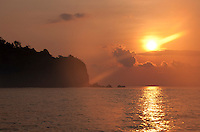Sunrise over the point at Sameh Village, Candidasa, Bali, Indonesia