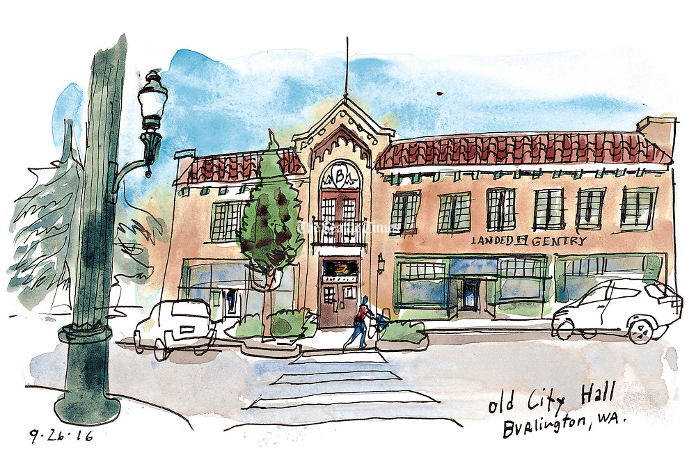 Burlington's old city hall building dates from 1926. (Gabriel Campanario / The Seattle Times)
