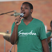 Cameron Mayes one of the singers of the gospel band Transition performs Saturday at Lee Williams birthday at Fair Park