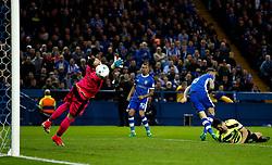 Steven Fletcher of Sheffield Wednesday scores his sides first goal - Mandatory by-line: Matt McNulty/JMP - 17/05/2017 - FOOTBALL - Hillsborough - Sheffield, England - Sheffield Wednesday v Huddersfield Town - Sky Bet Championship Play-off Semi-Final 2nd Leg