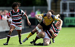 Tom Dodd of Worcester Warriors is tackled - Mandatory by-line: Robbie Stephenson/JMP - 30/07/2016 - RUGBY - Kingston Park - Newcastle, England - Worcester Warriors v Leicester Tigers - Singha Premiership 7s