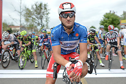 September 16, 2016 - Wuhan, China - Italian Marco Benfatto from Androni-Giocattoli Team wears the Blue Jersey of The Best Sprinter, at the start line of the final sixth stage, 99.6km Wuhan Xinzhou Circuit race, of the 2016 Tour of China 1..On Friday, 16 September 2016, in Xinzhou, Wuhan , China. (Credit Image: © Artur Widak/NurPhoto via ZUMA Press)