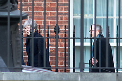 © Licensed to London News Pictures. 30/01/2018. London, UK. British Prime Minister Theresa May and husband Philip May leave Downing Street for a diplomatic and trade visit to China. Photo credit : Tom Nicholson/LNP