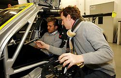 Motorsports / Formula 1: World Championship 2011, Besuch Nico Rosberg in einem SLS AMG GT3 bei der HWA AG, Thomas Jaeger ( SLS AMG GT3 Fahrer )