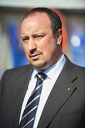 BIRMINGHAM, ENGLAND - Sunday, April 4, 2010: Liverpool's manager Rafael Benitez before the Premiership match against Birmingham City at St Andrews. (Photo by David Rawcliffe/Propaganda)