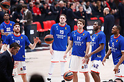 Team Efes Istanbul durante il pregame, AX ARMANI EXCHANGE OLIMPIA MILANO VS ANADOLU EFES ISTANBUL, EuroLeague 2017/2018, Milano 04 marzo 2018 Mediolanum Forum Assago, foto BERTANI/Ciamillo