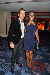 Singer BEVERLEY KNIGHT and her husband JAMES O'KEEFE at the 6th annual Asian Awards held at The Grosvenor House Hotel, Park Lane, London on 8th April 2016.