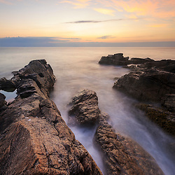 Dawn on Appledore Island, Maine. Isles of Shoals.