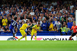 Michy Batshuayi of Chelsea scores to make it 1-0 - Mandatory by-line: Dougie Allward/JMP - 23/08/2016 - FOOTBALL - Stamford Bridge - London, England - Chelsea v Bristol Rovers - EFL Cup second round