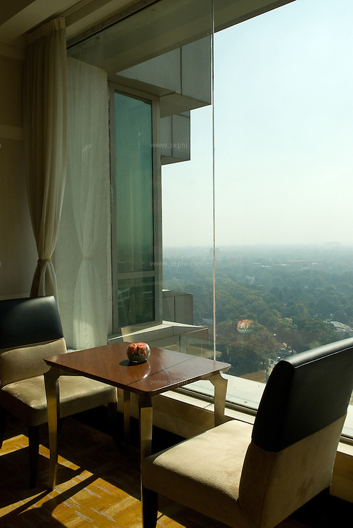 The Horizon club at the 19th floor of the Shangri-La Hotel in New Delhi