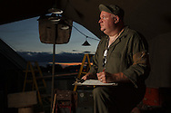 Living historian as crew chief.