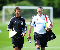 Bristol City's first team coach, John Pemberton and Alex Russell - Photo mandatory by-line: Dougie Allward/JMP - Tel: Mobile: 07966 386802 28/06/2013 - SPORT - FOOTBALL - Bristol -  Bristol City - Pre Season Training - Npower League One