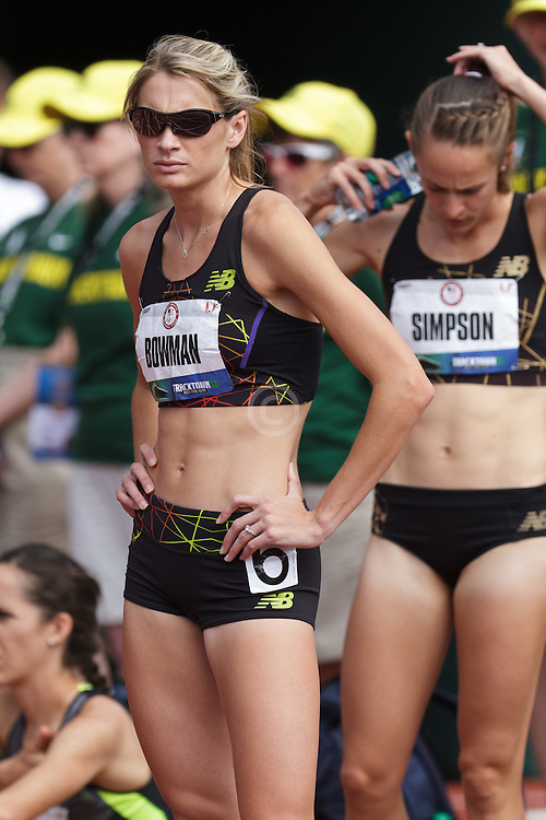 Olympic Trials Eugene 2012, women's 1500 meters Sarah Bowman