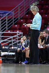 NORMAL, IL - February 10: Vicki Hall during a college women's basketball Play4Kay game between the ISU Redbirds and the Indiana State Sycamores on February 10 2019 at Redbird Arena in Normal, IL. (Photo by Alan Look)