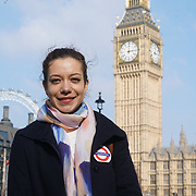London,England,uk, 24th March 2017, Speaker Lina Mar of the Baha'i community vigil for the victims of the terror attacks at Westminster Abbey,London,UK. by See Li