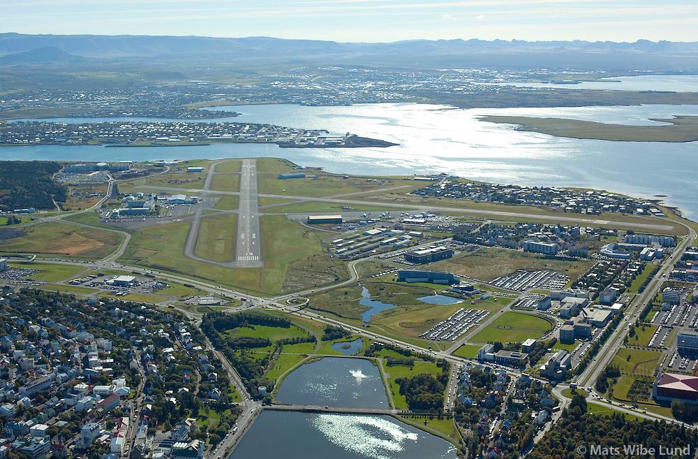 Reykjavik airport viewing south, Iceland