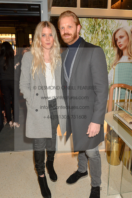 GRACIE EGAN and ALISTAIR GUY at the launch of the new J&M Davidson flagship shop at 104 Mount Street, London on 3rd February 2016.