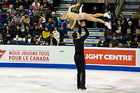 KELOWNA, BC - OCTOBER 25: American figure skaters Alexa Scimeca Knierim and Chris Knierim compete in the pairs short program of Skate Canada International held at Prospera Place on October 25, 2019 in Kelowna, Canada. (Photo by Marissa Baecker/Shoot the Breeze)