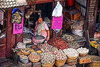 Produce market, Durbar Square, Kathmandu, Nepal
