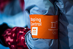 February 12, 2018 - Pyeongchang, SOUTH KOREA - 180212 Doping control after the menÃ•s moguls final during day three of the 2018 Winter Olympics on February 12, 2018 in Pyeongchang..Photo: Carl Sandin / BILDBYRN / kod CS / 57999_286 (Credit Image: © Carl Sandin/Bildbyran via ZUMA Press)