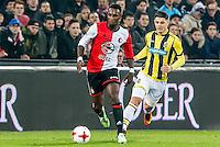 ROTTERDAM - Feyenoord - Vitesse , Voetbal , Eredivisie , Seizoen 2016/2017 , De Kuip , 16-12-2016 , Feyenoord speler Eljero Elia (l) in duel met Vitesse speler Milot Rashica (r)