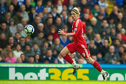 BIRMINGHAM, ENGLAND - Sunday, April 4, 2010: Liverpool's Fernando Torres in action against Birmingham City during the Premiership match at St Andrews. (Photo by David Rawcliffe/Propaganda)