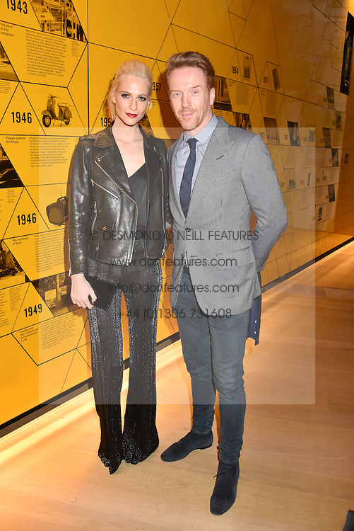Poppy Delevingne and Damian Lewis at the Range Rover Velar Global Reveal at The Design Museum, London England. 1 March 2017.