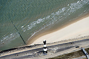 Nederland, Zeeland, Breskens, 19-10-2014;  gietijzeren vuurtoren, industrieel monument.<br /> Cast iron lighthouse.<br /> luchtfoto (toeslag op standard tarieven);<br /> aerial photo (additional fee required);<br /> copyright foto/photo Siebe Swart