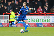 Forest Green Rovers goalkeeper Lewis Ward(34) during the EFL Sky Bet League 2 match between Crawley Town and Forest Green Rovers at The People's Pension Stadium, Crawley, England on 6 April 2019.