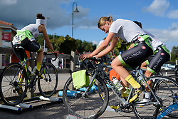 Doris Schweizer and her Cylance Pro Cycling warm up for the 42,5 km team time trial of the UCI Women's World Tour's 2016 Crescent Vårgårda Team Time Trial on August 19, 2016 in Vårgårda, Sweden. (Photo by Sean Robinson/Velofocus)