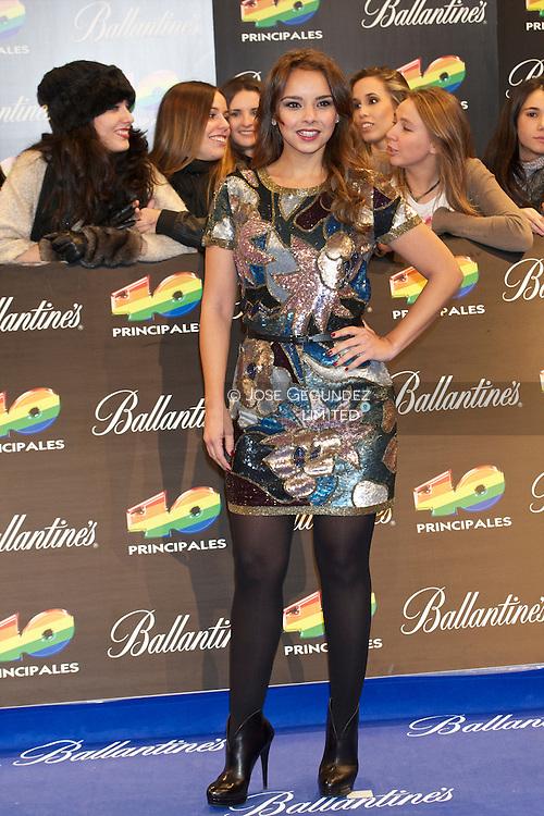 Chenoa attends '40 Principales Awards 2011' photocall at Palacio de los Deportes on December 9, 2011 in Madrid, Spain.