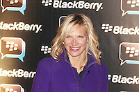 Jo Whiley was attending Blackberry's BBM Event - a celebration of the smartphone's free instant messaging app. The Bankside Vaults, London, UK. April 03, 2012. (Photo by Brett Cove)