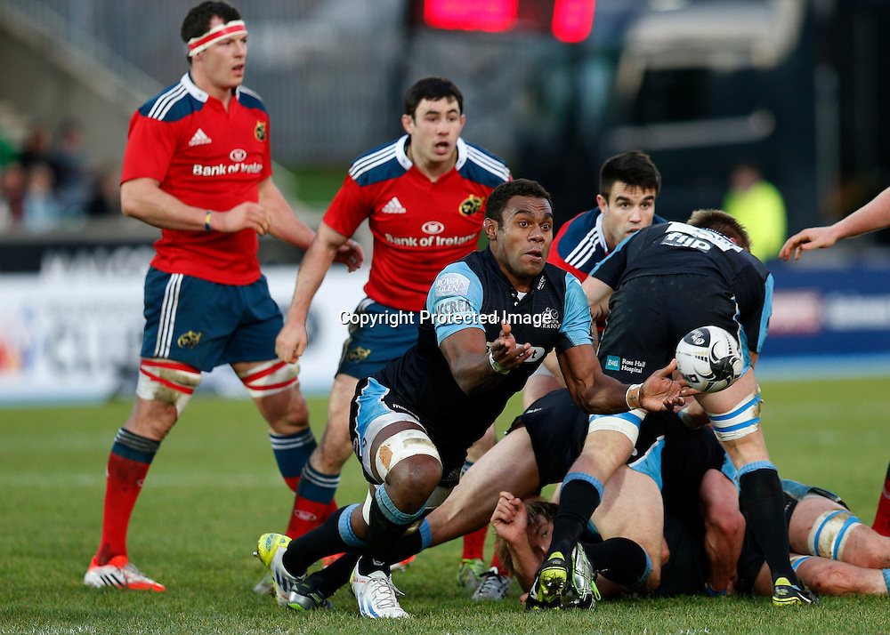 Guinness PRO12, Scotstoun Stadium, Scotland 20/12/2014<br /> Glasgow Warriors vs Munster<br /> Warriors' Leone Nakarawa<br /> Mandatory Credit &copy;INPHO/Russell Cheyne