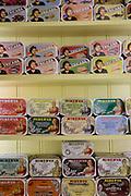 Display of sardines at A Vida Portuguesa in Lisbon.