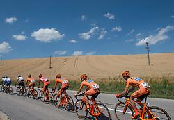05.07.2017, Altheim, AUT, Ö-Tour, Österreich Radrundfahrt 2017, 3. Etappe von Wieselburg nach Altheim (226,2km), im Bild Team CCC mit Felix Grossschartner (AUT, Team CCC Sprandi Polkowice) im Innviertel // team ccc with Felix Grossschartner of Austria (CCC Sprandi Polkowice) during the 3rd stage from Wieselburg to Altheim (199,6km) of 2017 Tour of Austria. Altheim, Austria on 2017/07/05. EXPA Pictures © 2017, PhotoCredit: EXPA/ Reinhard Eisenbauer