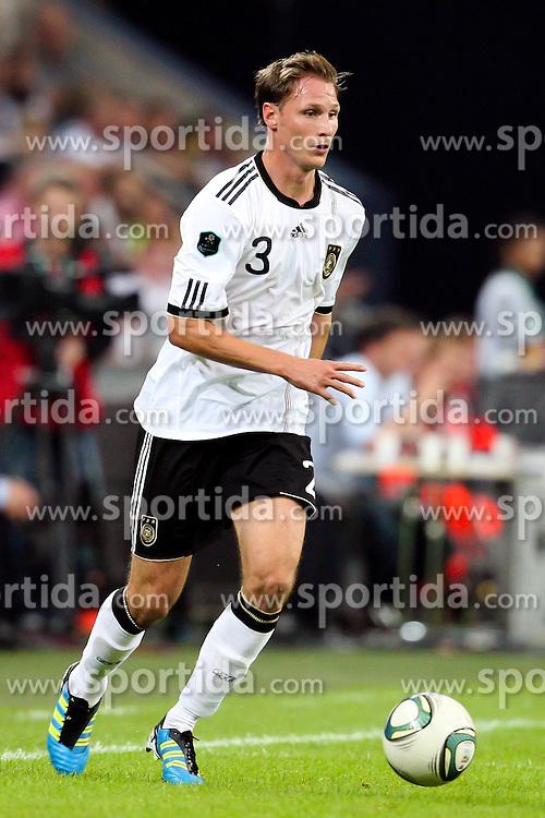 02.09.2011, Veltins Arena, Gelsenkrichen, GER, UEFA EURO 2012 Qualifikation, Deutschland (GER) vs Oesterreich (AUT),  im Bild ...Benedikt Höwedes / Hoewedes (Deutschland , Schalke 04). // during the UEFA Euro 2012 qualifying round Germany vs Austria  at Veltins Arena, Gelsenkirchen 2011-09-02 EXPA Pictures © 2011, PhotoCredit: EXPA/ nph/  Mueller       ****** out of GER / CRO  / BEL ******