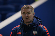 Brentford manager, Head Coach, Dean Smith during the Sky Bet Championship match between Brighton and Hove Albion and Brentford at the American Express Community Stadium, Brighton and Hove, England on 5 February 2016.