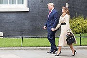 UNITED KINGDOM, London: 04 June 2019 <br /> The President of the United States of America Donald Trump and his wife Melania arrive at 10 Downing Street this morning and was welcomed by British Prime Minster Theresa May and her husband Philip during The President's official state visit.