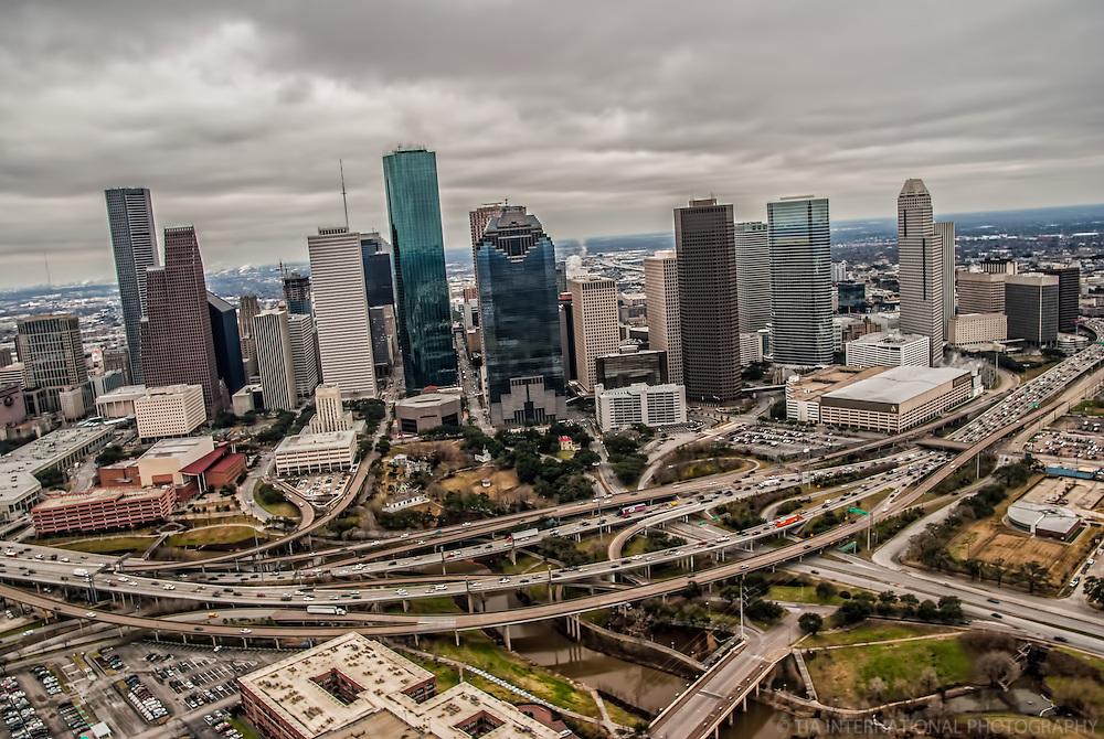 Downtown Houston & Gulf Freeway